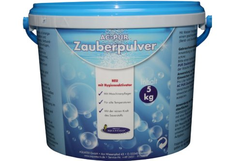 AQUA CLEAN PUR Zauberpulver 5kg ! Neu mit Hygieneaktivator!
